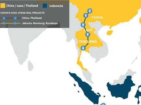 A high-speed rail from Thailand to China has already been funded in part by the Thai government.