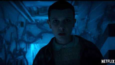 Eleven struggling in the Upsidedown.