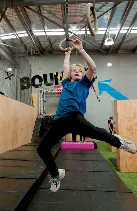 Gary Nowlan, 12, of Gawler East, trains in the X-Park at Bounce.