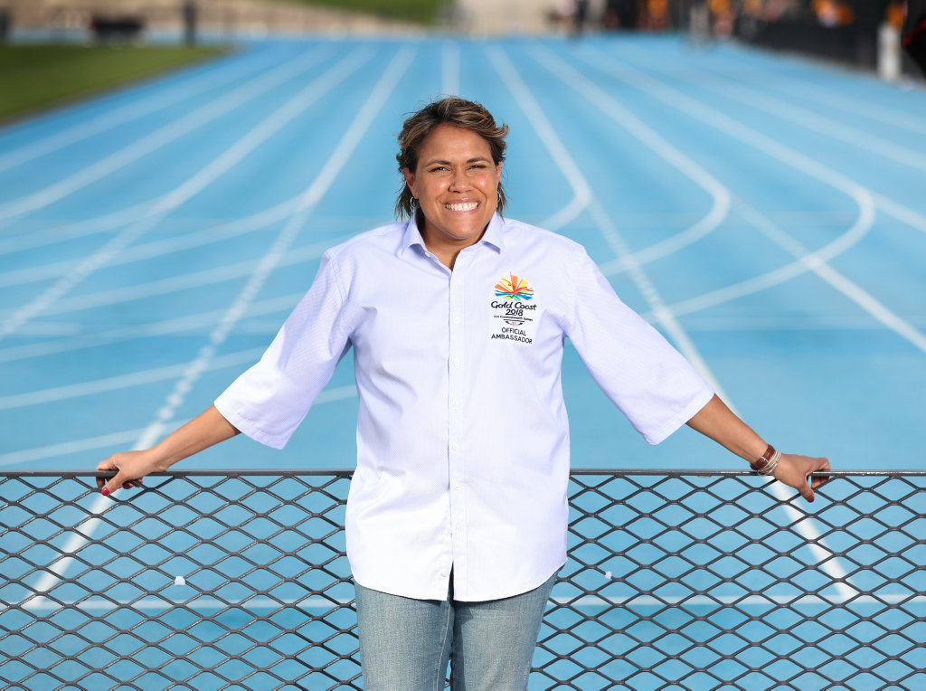 Cathy Freeman today, after being named Commonwealth Games 2018 ambassador.