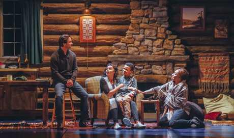 Kip Gamblin, Paulini, Chetachi Nwaogazi and Prinnie Stevens in a scene from the musical The Bodyguard.