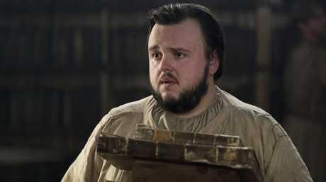 John Bradley as Samwell Tarly in a scene from Game of Thrones.