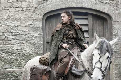 Maisie Williams in a scene from season seven episode two of Game of Thrones.
