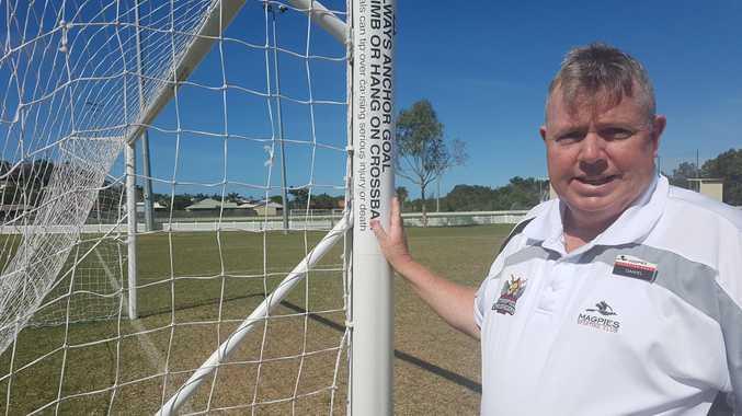 Dan Healy is working hard to build Mackay's National Premier League football club Magpies Crusaders United.