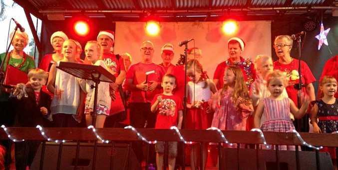 GOOD VOICE: Coffs City Choir performs at the Moonee Beach Tavern.
