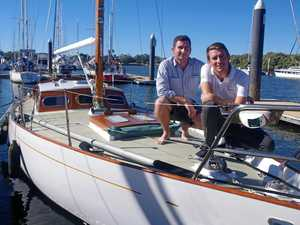 Brothers Josh and Jono Walker will be sailing their grandfather's yacht in The Gaffers this weekend.