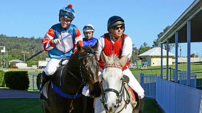 Apprentice jockey Tiffani Brooker guides Willowbrook Wonder back into the Ipswich enclosure.