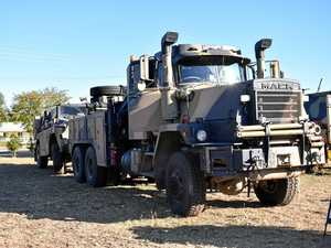 Military convoys on highway after Talisman Sabre exercise