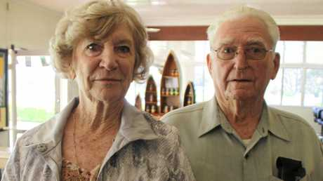 TRIBUTES: Kevin DeVere and his wife Faith at the Golden Anniversary Kandanga football club.