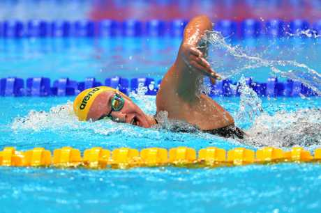 Australia's Ariarne Titmus made a fine international debut finishing fourth in the women's 400m freestyle final.