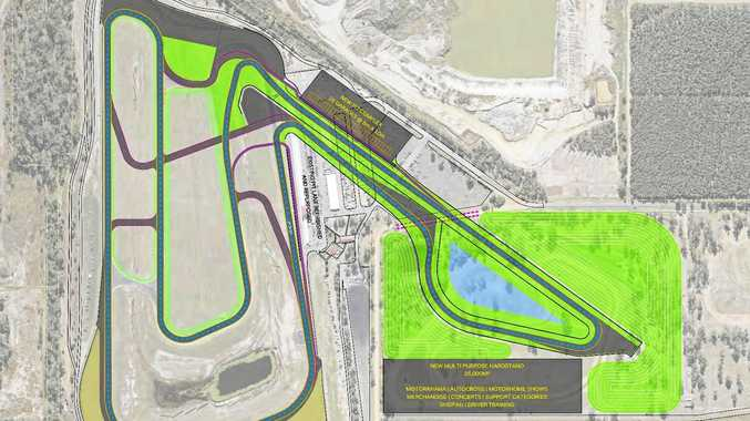 An artists impression of the $52 million Queensland Raceway track upgrade.