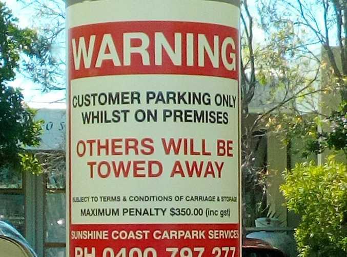 A new sign that's been put up at Kawana Shoppingworld.