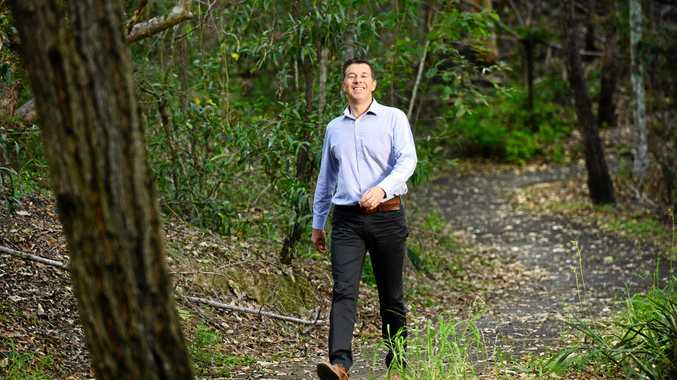 VISION: Mayoral candidate Cr Andrew Antoniolli, in Denmark Hill Conservation Park, has plans for improving the environment.