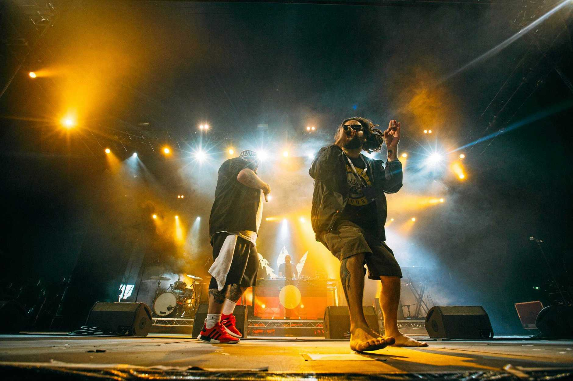Hip hop duo Briggs and Trials are A B Original, performing at Splendour in the Grass 2017.