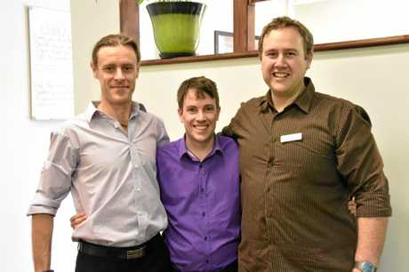 CHIROPRACTORS FOR A CURE: Dr. Ben Hiles, Dr Andrew Willmott and Dr. Brenden Pascoe team up for this year's Relay For Life.