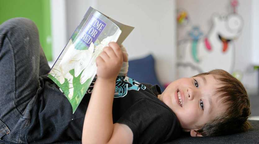 STARTING EARLY: Melissa Insch's son Lincoln Thornton loves reading.