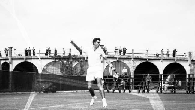Mervyn Rose in action in 1954