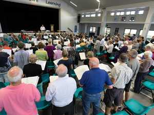 Choir rehearsals for a concert to celebrate the 50th anniversary of the naming of the Sunshine Coast.