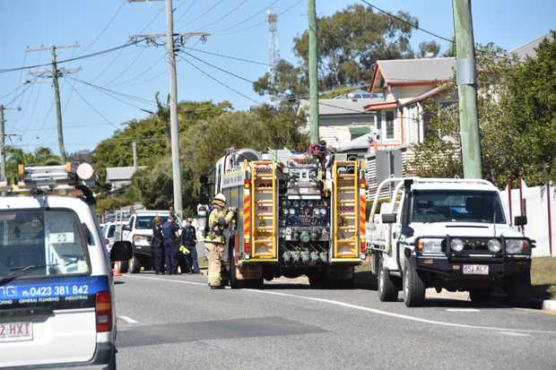 QUEENSLAND Fire and Emergency crews were called to 181 Auckland St at 11.11am this morning after a gas main leak was reported.