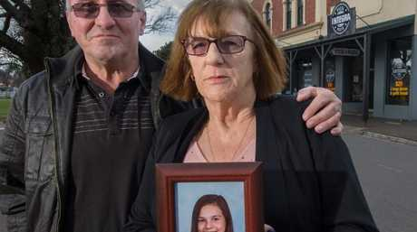 Parents Mick Binks and Lesley Brown appealing for help with the search for their missing daughter Jodie Binks-Brown in Romsey. Picture Jay TownSource:News Corp Australia