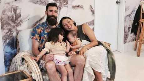 Kawa Sweeney, three, with mum Dee Tang, dad Desmond Sweeney and sister Rafa, one.Source:Supplied