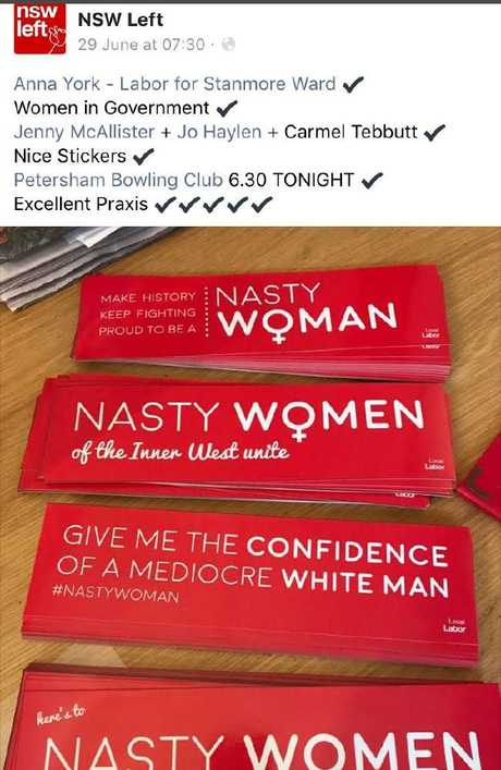 The NSW Left social media post on June 29, detailing the bumper stickers,