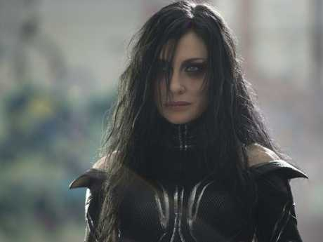 A near unrecognisable Cate Blanchett as Hela in Thor: Ragnarok. Picture: Jasin Boland/Marvel StudiosSource:Supplied