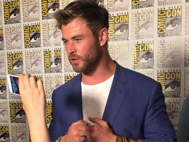 Chris Hemsworth talks up the new Thor movie. Picture: James Law/news.com.auSource:Supplied