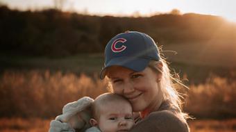 Elisha Palmer with son Knox