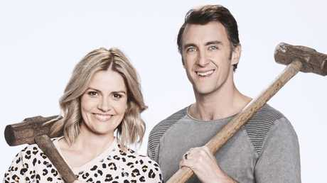 Queensland contestants Hannah and Clint tick several boxes. She's blonde, he played NRL, and they can swing a hammer.