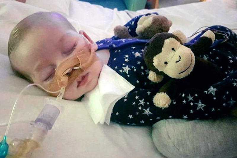 Chris Gard and Connie Yates wept as their attorney revealed the results of brain scans. The 11-month-old has a rare genetic condition, and his parents fought hard to receive an experimental treatment. Doctors said it wouldn't help and contended Charlie should be allowed to die peacefully.