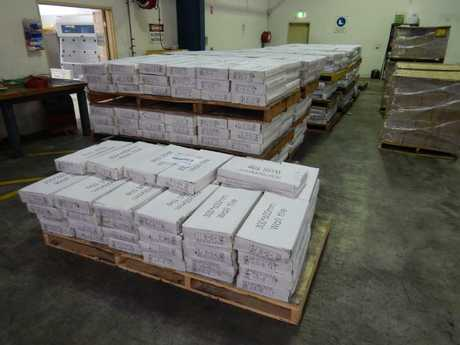 Two people have been arrested and more than 370kg of ephedrine has been seized.