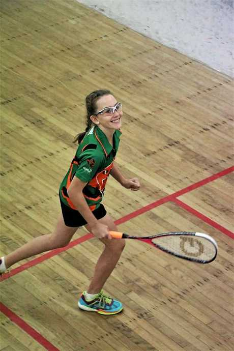 Sandgate Squash's Madison Lyon is the U13 State Champion and played at the Queensland Junior Championships recently.