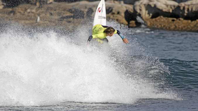 MAKING WAVES: Lennox Head rising star Jai Glinderman is on the ascent after taking out the Under-14 division of the Havaianas NSW Grommet State Titles in Sydney.