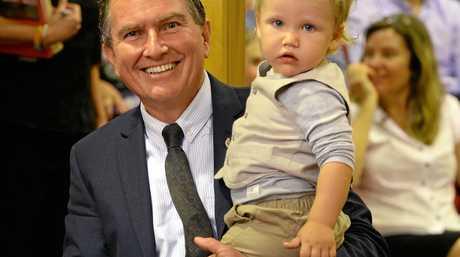Cr David Morrison with his grandson Judah.