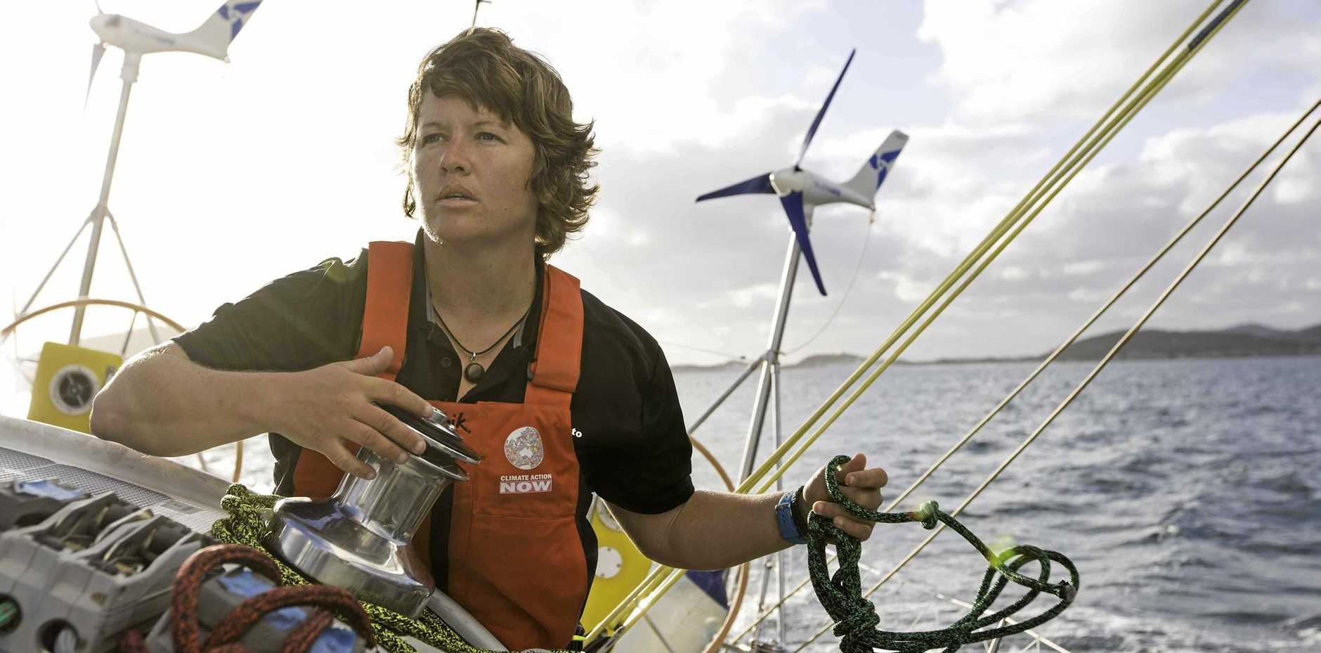 ADVENTURER: Lisa Blair attempted to break the world record for sailing solo around Antarctica, and even after a disastrous dismasting is set to be officially recognised as the first woman to circumnavigate the continent.