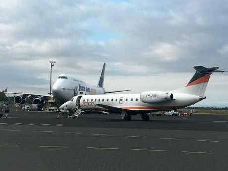 An Atlas Jumbo at the Rockhampton Airport two weeks ago.