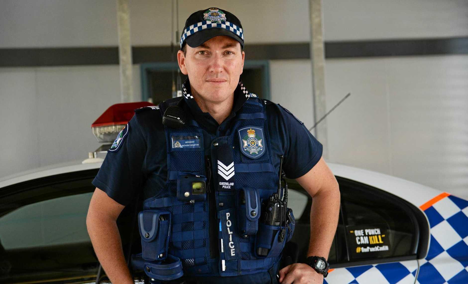 GOTCHA: Sergeant Anthony Houston at Gracemere police station. Photo Allan Reinikka / The Morning Bulletin
