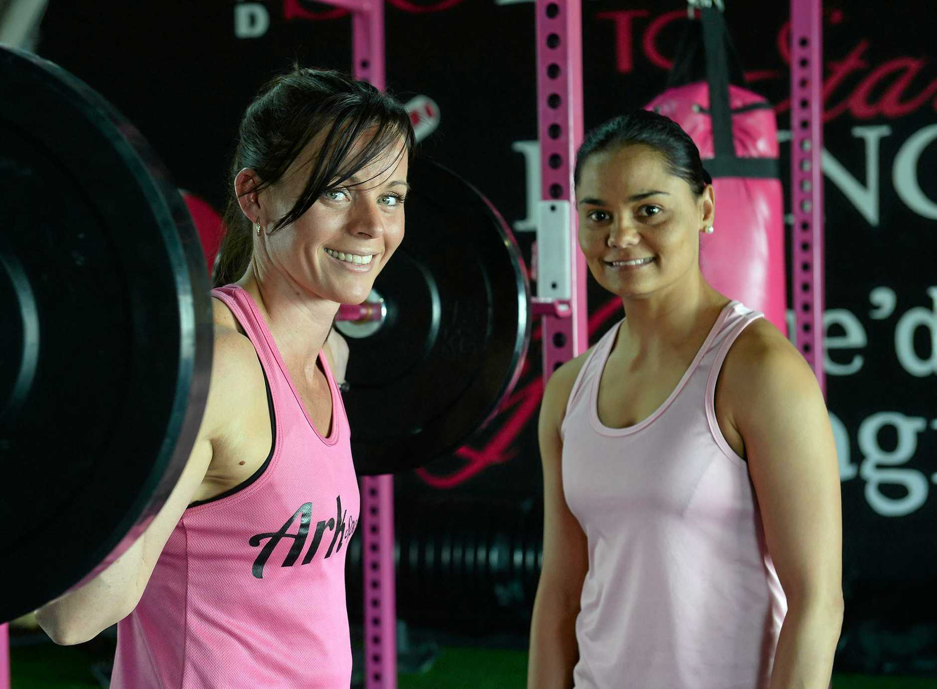 LET'S GET PHYSICAL: Cindy Tavinor and Larin Bligh want to welcome all women to XO Ladies Gym on Kent Street.