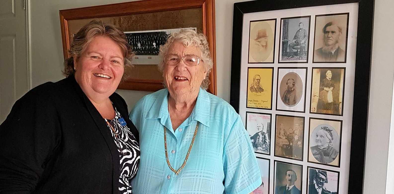 Linda Marsden with Doreen.