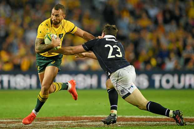 IN THE MIX: Quade Cooper is still in the Wallabies mix according to coach Michael Cheika.