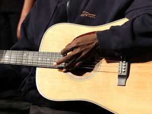 World famous blind Aboriginal singer Dr G. Yunupingu passed away in Darwin yesterday. Picture: Supplied.