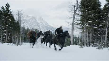 A scene from the movie War for the Planet of the Apes.