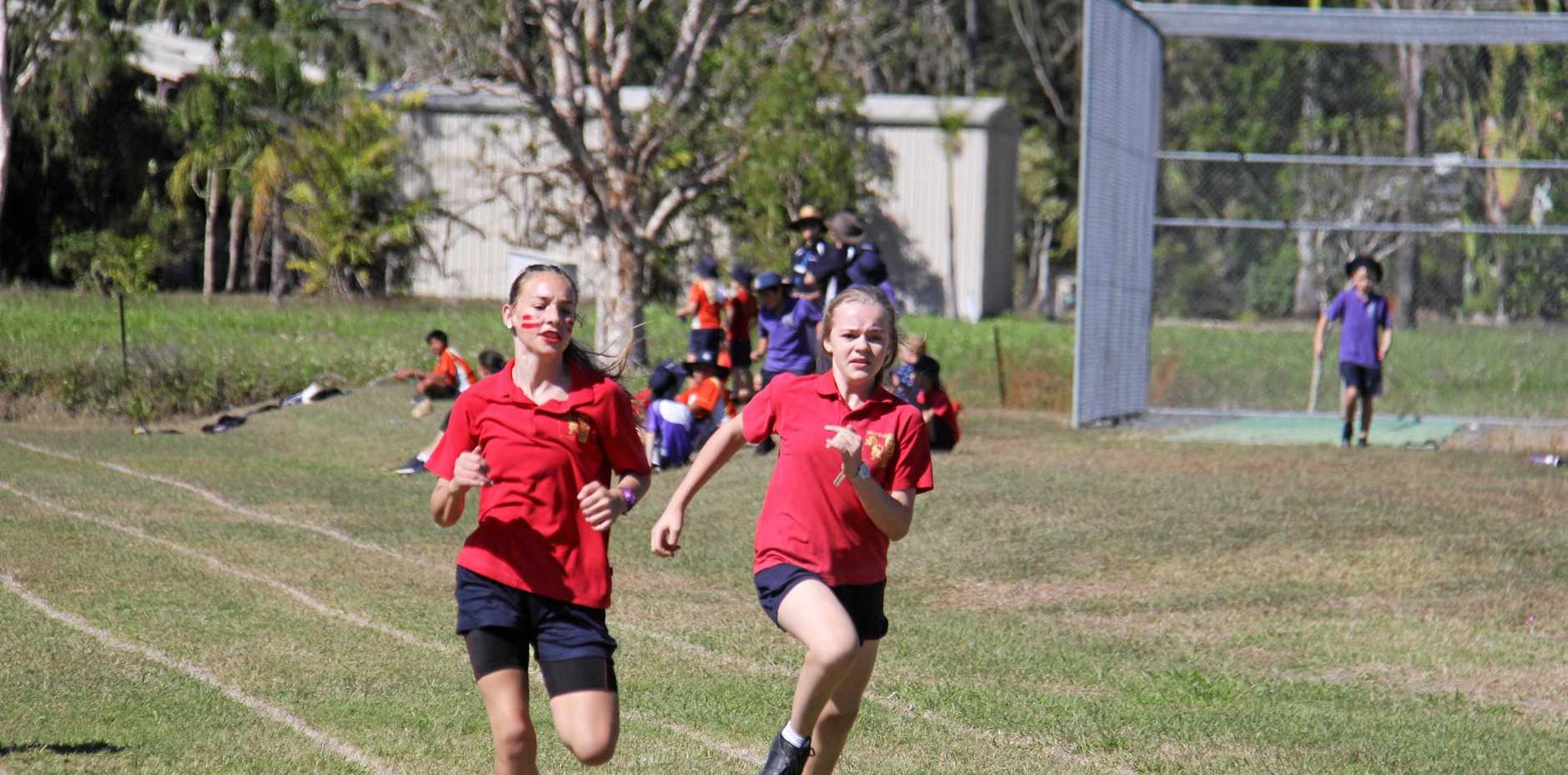 Daina Brown and Ebony Yeomans competed in the 100 m race.