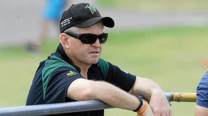 Ipswich Jets BRL coach Mark Bishop.