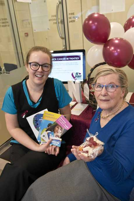 RAISING AWARENESS: Nurse Emma Kluck (left) and cancer survivor Jean Dellit are raising awareness of World Head and Neck Cancer Day.