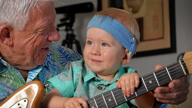 Music has been Barry Bull's life. But Barry's grandson was born with a hearing problem. Archer has since had a Cochlear ear implant and has had help from the Hear and Say Centre so Barry has tweaked his show as a fundraiser for the Hear and Say Centre's Loud Shirt Day.