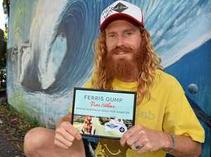FERRIS GUMP: Ben Ferris about to set off on his epic run.Photo Christian Morrow / Byron Shire News