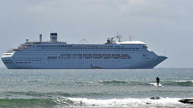 P&O Cruise Ship off Mooloolaba.