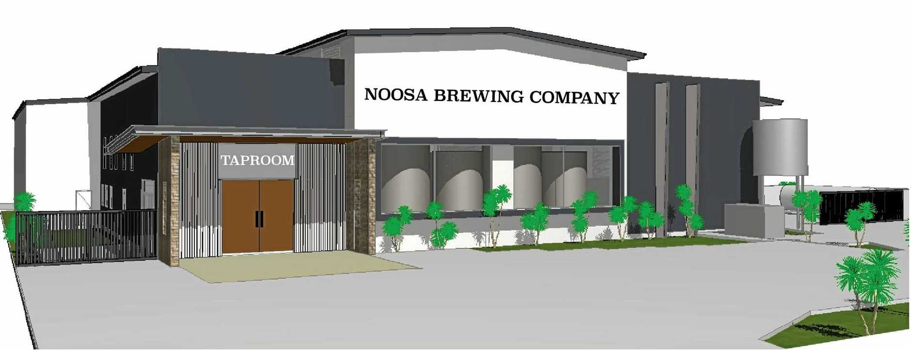 SITE: An artist's impression of the new Noosa Brewing Company brewery.